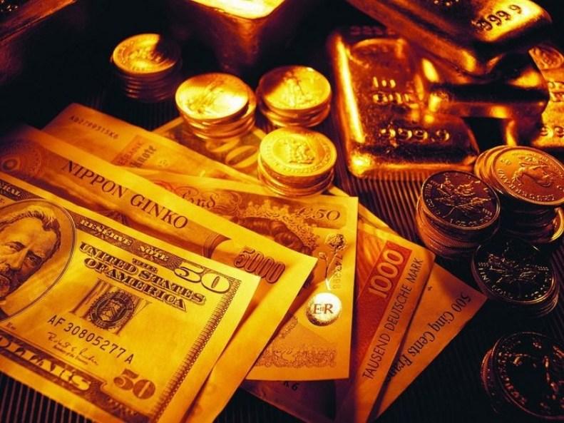 Dollar Bills-Both Notes and Coins.