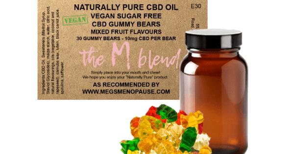 The M Blend 10mg CBD Vegan & Sugar Free Gummy Bears