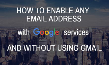How to enable any email address with Google Services (without using Gmail)