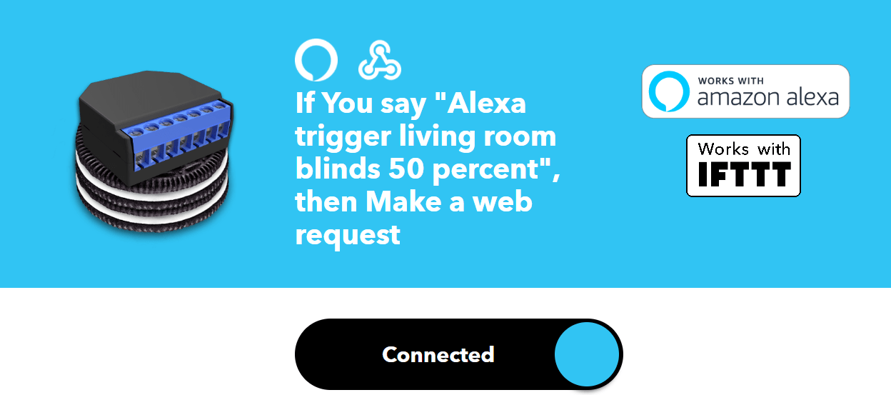 How to control shelly 2.5 relays with alexa and IFTTT
