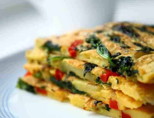 Recipe Ricotta tomato spinach frittata