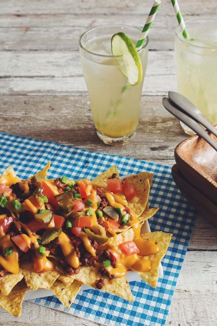 vegan gluten free chili cheese nachos