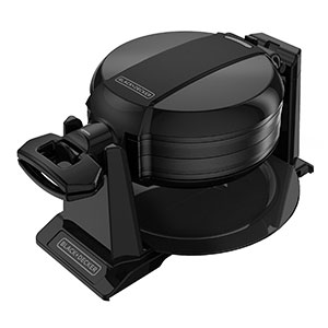 Black and decker double flip waffle maker