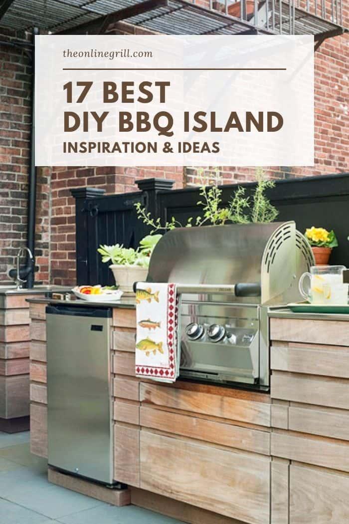 17 Best DIY BBQ Island Ideas (Cinder Blocks, Wood, Cement ... on Diy Patio Grill Island id=61944