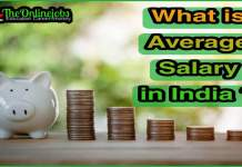 Average Salary in india 1