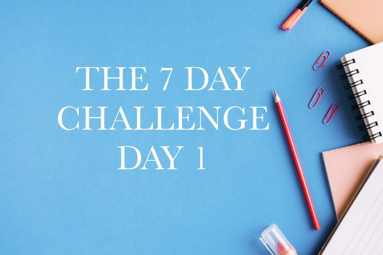 The 7 Day Challenge: Day 1, Check Your Current Scenario