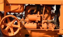 The spray-tanned tractor