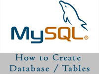 How to create database and Tables in MySQL