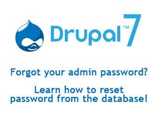 How to reset admin password in Drupal 7?