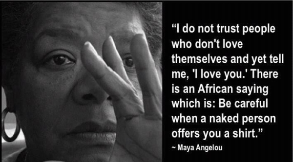 maya Andelou quote - the only way is ghana
