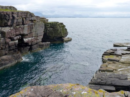 Cliffs and sea caves