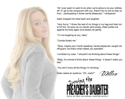 #NewRelease #Giveaway Saving the Preacher's Daughter by Piper Davenport