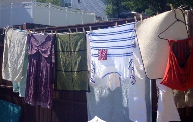 clothesline backyard laundry