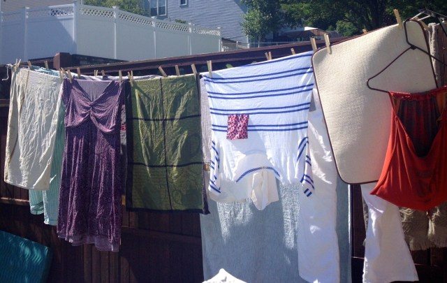 clothesline backyard laundry