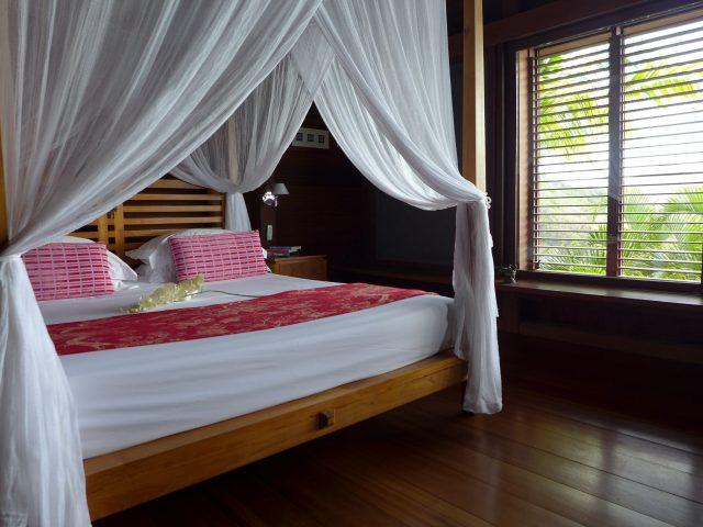 Master bedroom in Villa Samsara.
