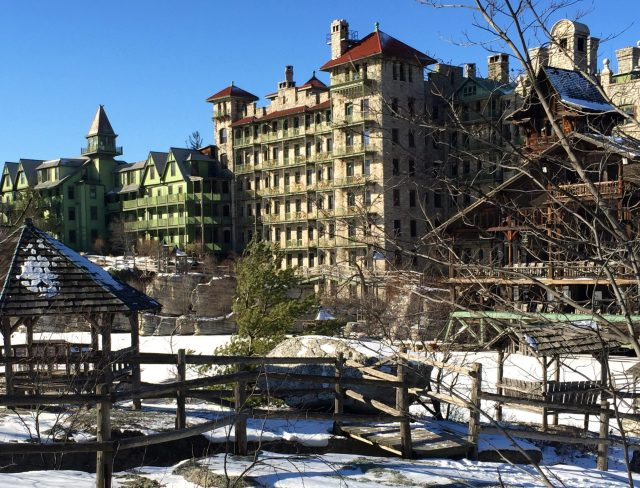 Mohonk Mountain House in winter