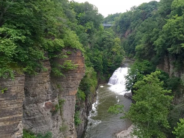 Ithaca gorge waterfall