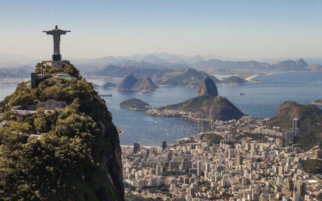 Brazil, Rio de Janeiro, cariocas landscape, general view with the Christ of Corcovado