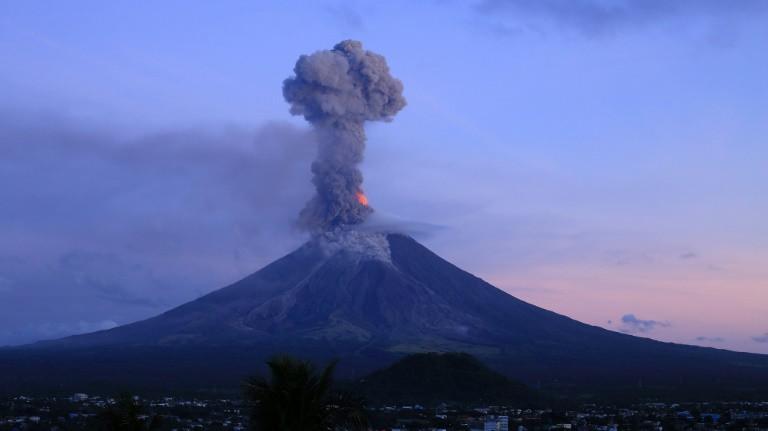 Mayon, active Phillipine volcano-afp
