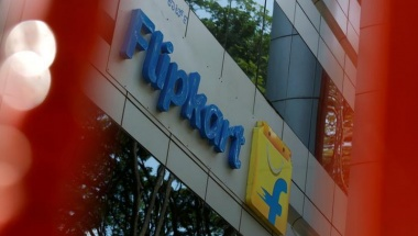 FILE PHOTO: The logo of India's e-commerce firm Flipkart is seen on the company's office in Bengaluru