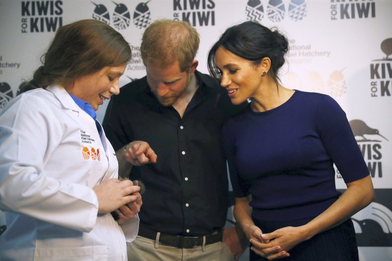 Britain's Prince Harry and Meghan-AP