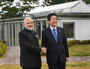 Japanese Premier Shinzo Abe Sunday said Prime Minister Narendra Mod-pti