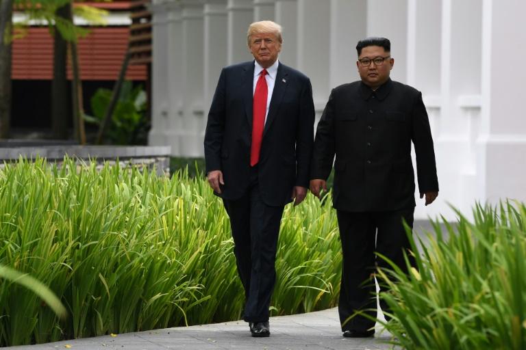 kim-trump singapore-afp
