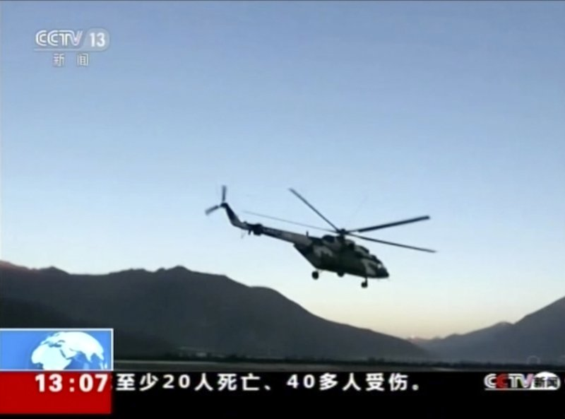 military helicopter deployed-AP