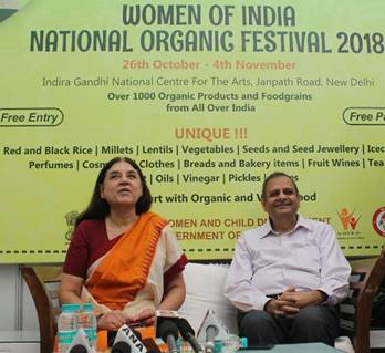Women of India National Organic Festival_ was inaugurated by Smt. Maneka Sanjay Gandhi, Union Minister for Women and Child Development-1-pib