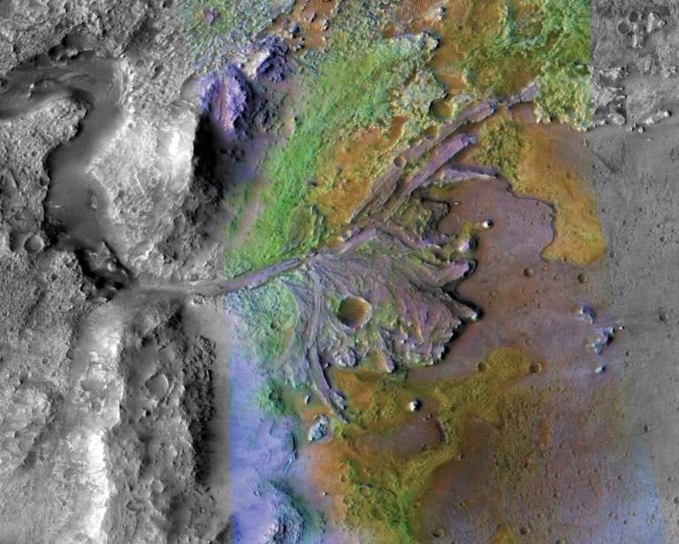 ancient Martian river - AFP
