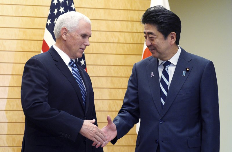 800-10Pence, Abe agree on North Korea sanctions-AFP
