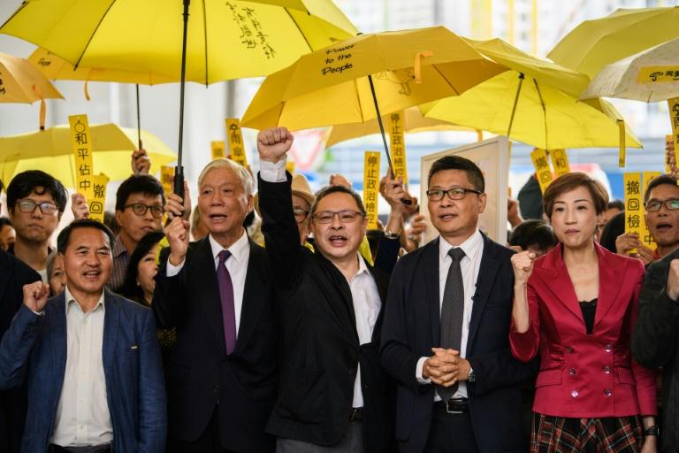 Hong Kong democracy leaders - AFP