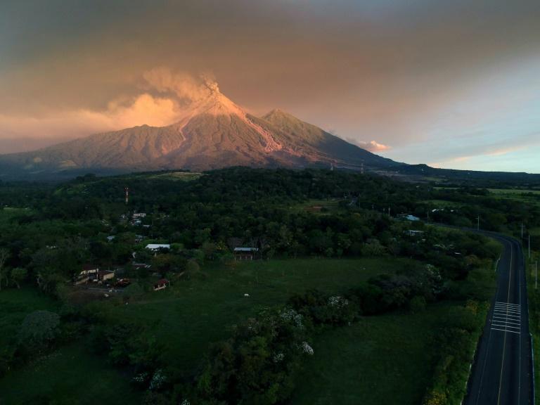Volcano erupting as seen from Escuintla, Guatemala- AFP