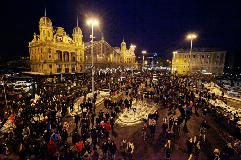 Thousands protest 'slave law' in Budapest- AFP