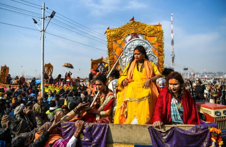 India's transgenders take first Kumbh Mela dip- AFP