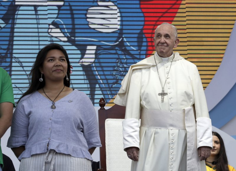 Click to copyhttps://apnews.com/8483c0e6193c46bd8b7417f97a4580df RELATED TOPICS AP Top News Religion International News Panama Latin America Panama City Pope Francis Pope brings World Youth Day to Panama's detained youth