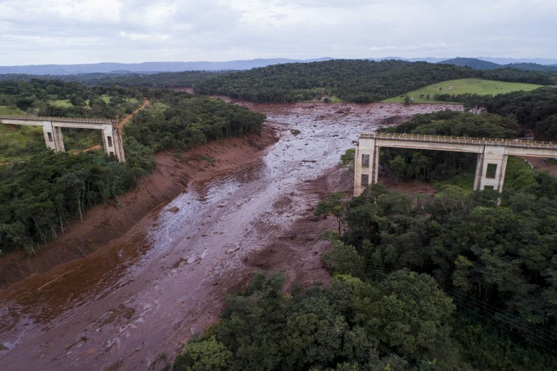 Click to copyhttps://apnews.com/bfd21cdfaf494e31ae48390f6baa04ba RELATED TOPICS Brazil Rio de Janeiro Dams Fish Latin America Caribbean Environment Waste unleashed from Brazil dam on its way to a larger river