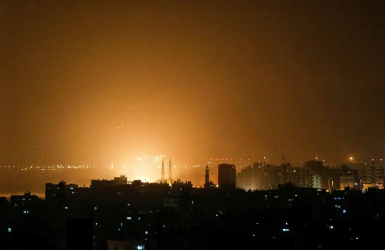 Israel launches dozens of Gaza strikes after rockets target Tel Aviv