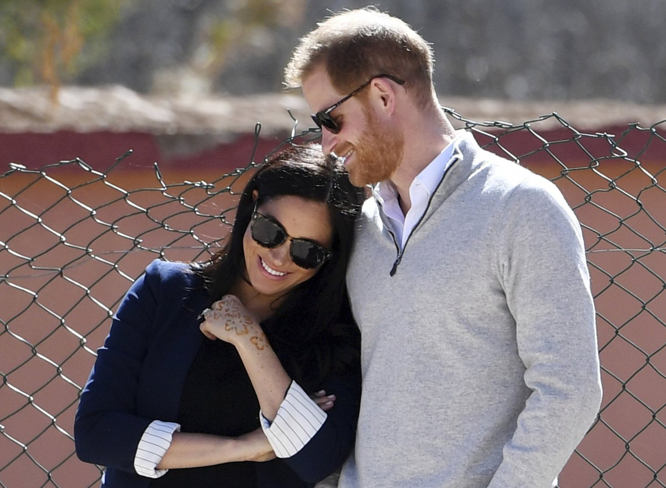 Britain's Prince Harry and Meghan, Duchess of Sussex-AP