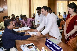 Rahul Gandhi files nomination from Wayanad in Kerala-PTI