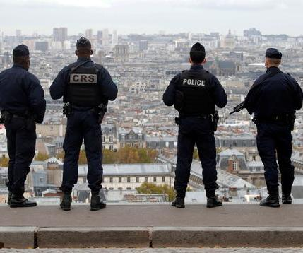 French-police-and-CRS-riot-policemen-patrol-in-Montmartre-in-Paris-REUTERS