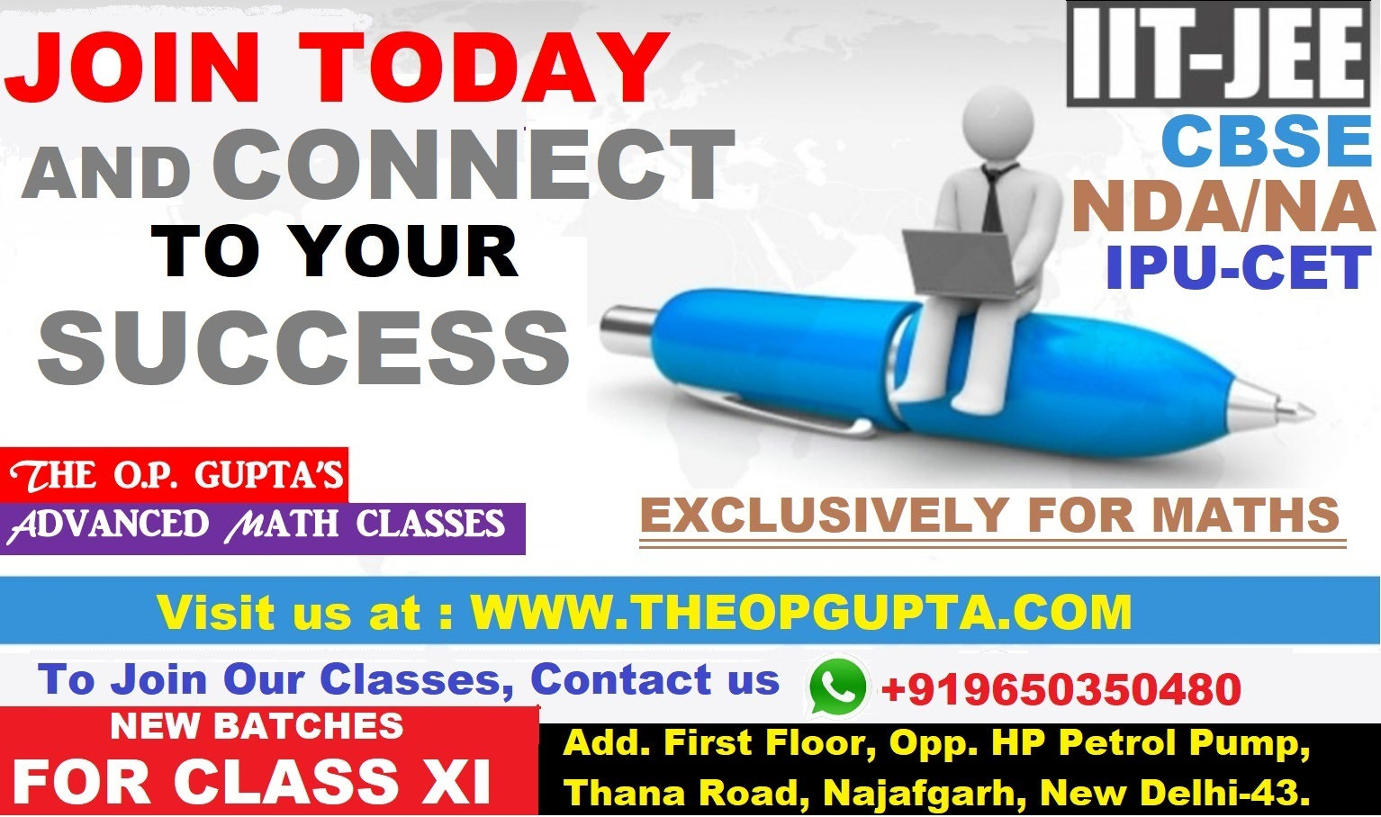 Maths Classes For XI By O.P. Gupta