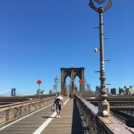 Brooklyn Bridge Walk, NY (walking towards Brooklyn). Photo: Maria Schindlecker