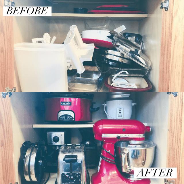 organize small kitchen appliances