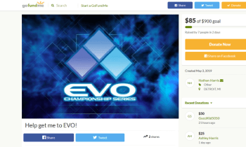 Responsible Player Starts EVO GoFundMe Early This Year