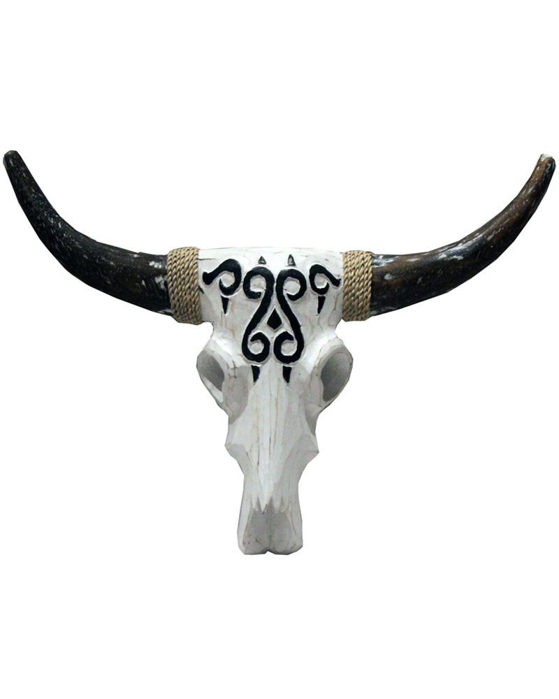 Vegetarian Cow Skull: White