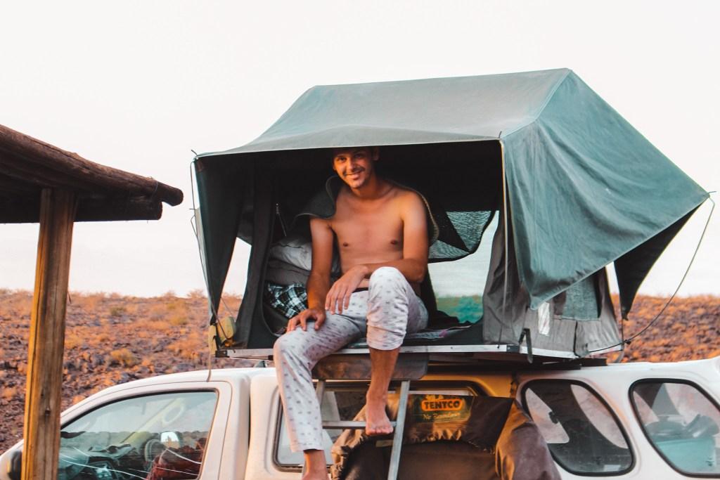 Camping sites in Namibia | Mount Brukkaros | Slapen op een vulkaan | Rondreis in Namibië