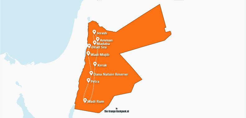 De ideale reisroute voor Jordanië | the perfect itinerary for Jordan | The Orange Backpack