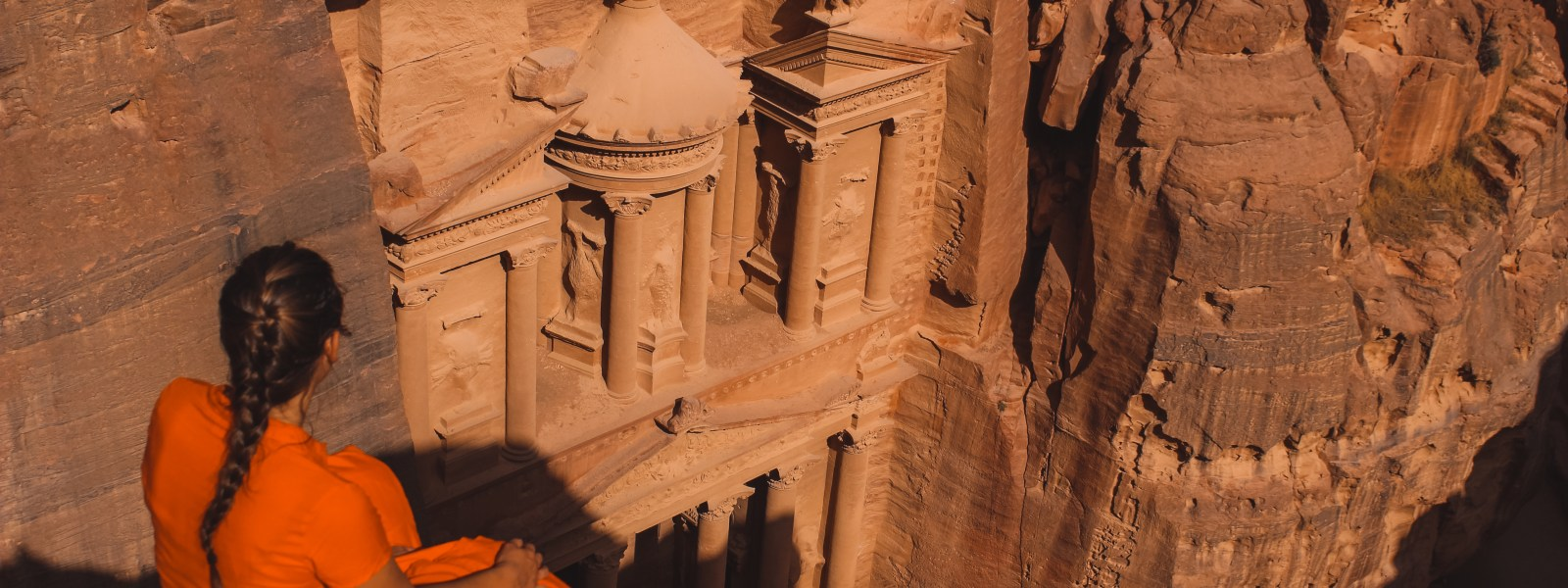 3x de 'Treasury from above' in Petra (met gratis kaart)