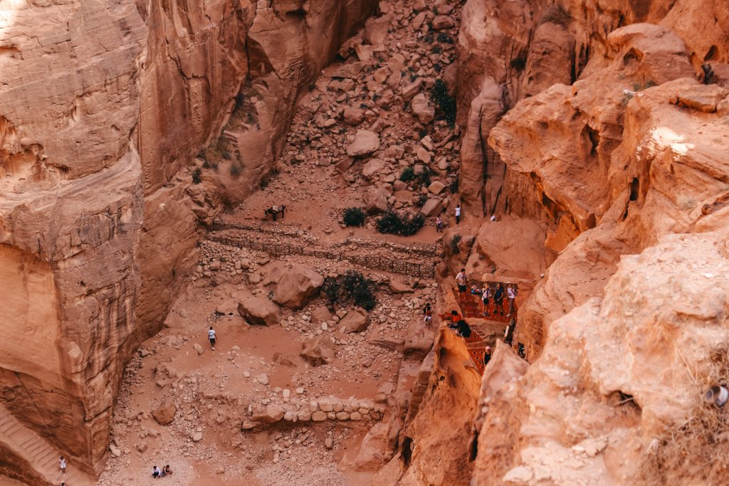 Petra | Treasury from above | The Orange Backpack